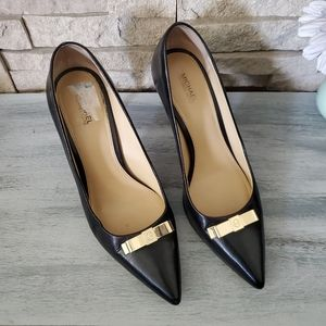 Michael Kors Black Bow Heels Sz 9